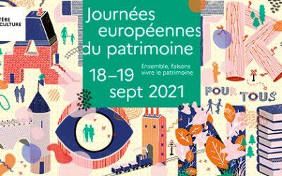 Les journées du patrimoine 18 et 19 septembre 2021